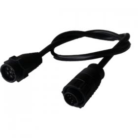 Simrad/Lowrance adapterikaapeli 9 Pin Musta liitin -> 7 Pin Sininen liitin CHIRP