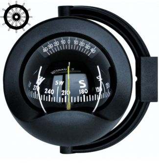 Autonautic C8-0025 sanka-asennettava kompassi 85 mm ruusulla, musta