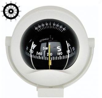 Autonautic C8-0026 sanka-asennettava kompassi 85 mm ruusulla, valkoinen