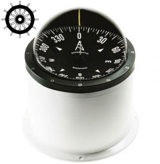 Autonautic CHE-0074 pinta-asennettava kompassi 140 mm ruusulla, valkoinen
