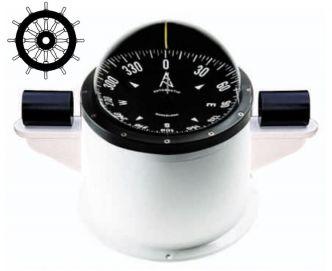 Autonautic CHE-0077 pinta-asennettava kompassi 140 mm ruusulla teräsveneisiin