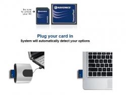 Aseta päivityskortti tietokoneeseesi. Tietokoneesi avaa automaattisesti selaimen osoitteeseen navionics.com ja pyytää luvan ladata päivitysohjelman