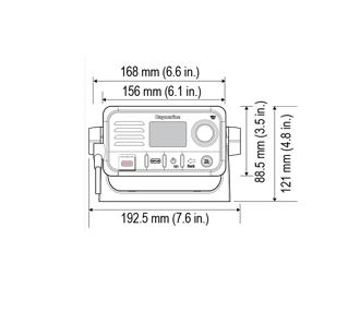 Raymarine Ray52 VHF puhelin sisäisellä GPS:llä
