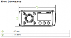 Fusion MS-RA55 soitin Radio/Bluetooth
