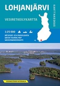 Lohjanjärvi 1:50 000, vesiretkeilykartta 2014