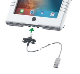 Andres Industries aiShell iPad suojakotelon vesitiivis kaapeli Lightning