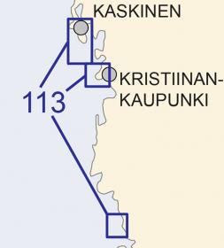 Satamakartta 113, Merikarvia, Kristiinank. & Kaskinen