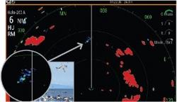 Siellä missä on lintuja, on myös kalaa. Halo-tutkan BIRD-tilan avulla on helppo löytää lintuparvet kauempaakin.