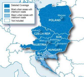 Garmin Itä-Eurooppa luode kartta CNE NT SD/MikroSD