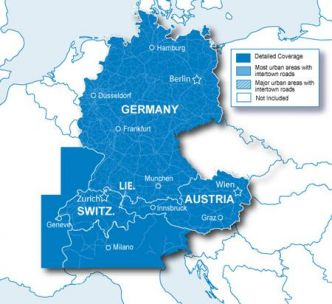 Garmin Saksankielisten maiden (Saksa, Tsekki, jne) kartta CNE NT SD/MicroSD