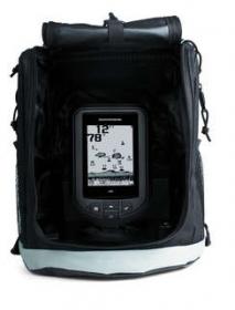 Humminbird PiranhaMAX 165 Portable toimitetaan kantolaukussa, johon voi pakata myös anturin kuljetusta varten