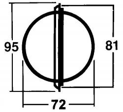 Garmin 70P kompassi, laipioasennus