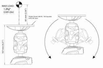 Scanstrut ROKK Mini kääntyvä telineen keskiosa