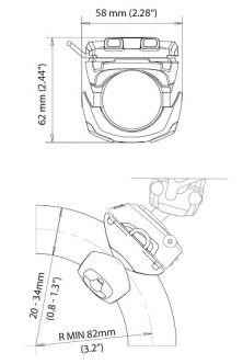 Scanstrut ROKK Mini kaiteeseen kiinnitettävä pohjalevy