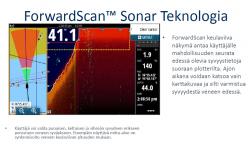 Simrad/B&G ForwardScan™ eteenpäin näyttävä kaikuanturi