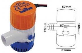 Nautiline 800 GPH pilssipumppu - 12 V, 5A