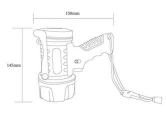 Aqua Signal Vesitiivis LED käsivalonheitin