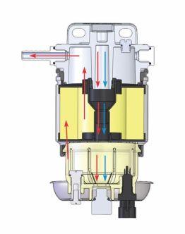 Vetus 75350VTEB dieselsuodatin, tupla