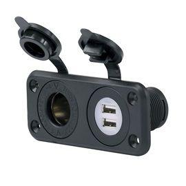Marinco USB ja 12 V latauspohja