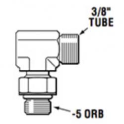 """SeaStar 343184 kulmaliitin (-5 ORB uros - 3/8"""" Tube)"""