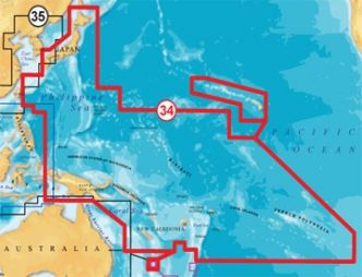 Navionics Gold 34XG PACIFIC ISLANDS & JAPAN