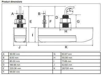 Raymarine HV-300TH HyperVision pohjanläpikaikuanturi