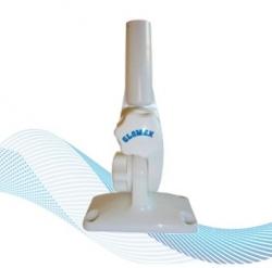 LISÄVARUSTE - Muovinen tasopintaan ruuvattava 4 suuntaan taittuva jalka asennusadapterilla
