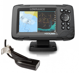"Lowrance HOOK Reveal 5"" SplitShot kaikuluotain/karttaplotteri"