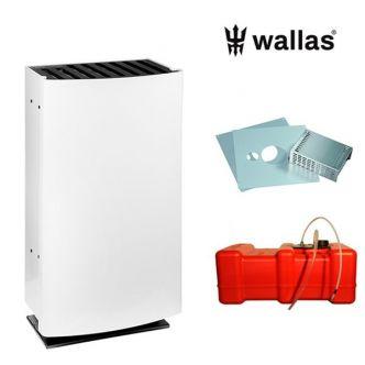 Wallas 26CC lämmitinpaketti seinänläpiasennukseen valkoinen