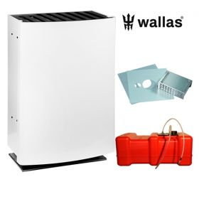 Wallas 40CC lämmitinpaketti seinänläpiasennukseen valkoinen