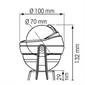 Plastimo Offshore 75 kompassi, valkoinen/musta