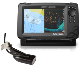 "Lowrance HOOK Reveal 7"" SplitShot kaikuluotain/karttaplotteri"