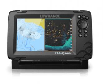 """Lowrance HOOK Reveal 7"""" SplitShot kaikuluotain/karttaplotteri"""