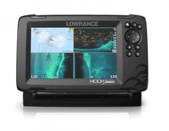 """Lowrance HOOK Reveal 7"""" TripleShot kaikuluotain/karttaplotteri"""