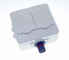 Defa PowerSystems kannellinen pinta-asennettava tuplapistorasia