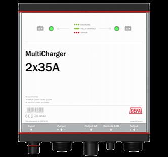 Defa PowerSystems MultiCharger 2x35A maasähkölaturi