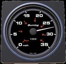 VDO AcquaLink nopeus veden suhteen 35 mph/60 kmh