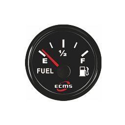 ECMS polttoainemittari resistiiviselle anturille 52 mm, musta