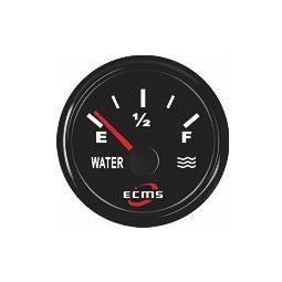 ECMS vesisäiliömittari resistiiviselle anturille 52 mm, musta