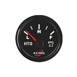 ECMS septitankkimittari resistiiviselle anturille 52 mm, musta