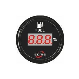 ECMS digitaalinen polttoainemittari resistiiviselle anturille 52 mm, musta