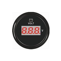 ECMS digitaalinen jännitemittari 52 mm, musta
