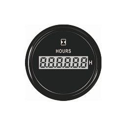 ECMS digitaalinen käyttötuntimittari 52 mm, musta