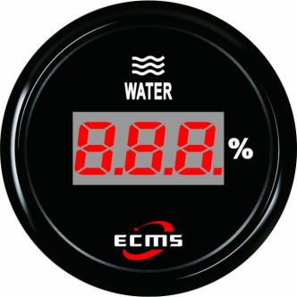 ECMS digitaalinen vesisäiliömittari resistiiviselle anturille 52 mm, musta