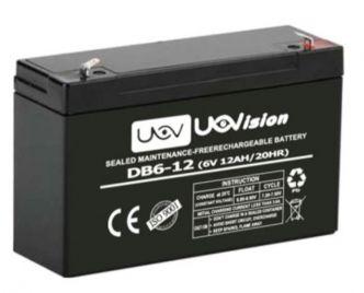 Uovision 12Ah ulkoinen hyytelöakku 6 V riiskameralle