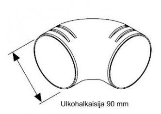 Webasto mutkakappale 90 mm