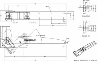 Anchorlift keularulla  max 20 kg Bruce, Anchorlift™ CX, Claw tai Rocna tyylisille ankkureille
