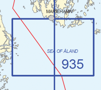 Yleismerikartta 935, Eteläinen Ahvenanmeri 1:100 000, 2018
