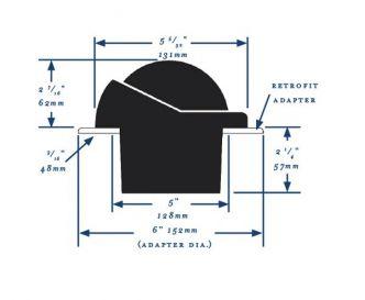 Ritchie Helmsman- kompassi uppoasennuksella, musta edestä luettava