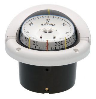 Ritchie Helmsman- kompassi uppoasennuksella, valkoinen edestä luettava